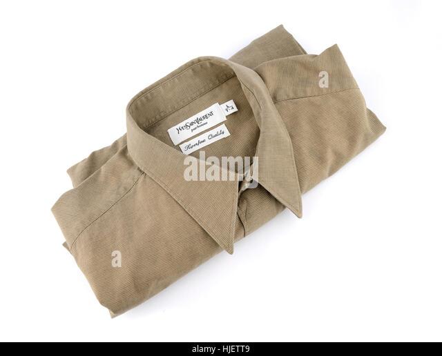 Folded clothes cutout stock photos folded clothes cutout for Bureau yves saint laurent