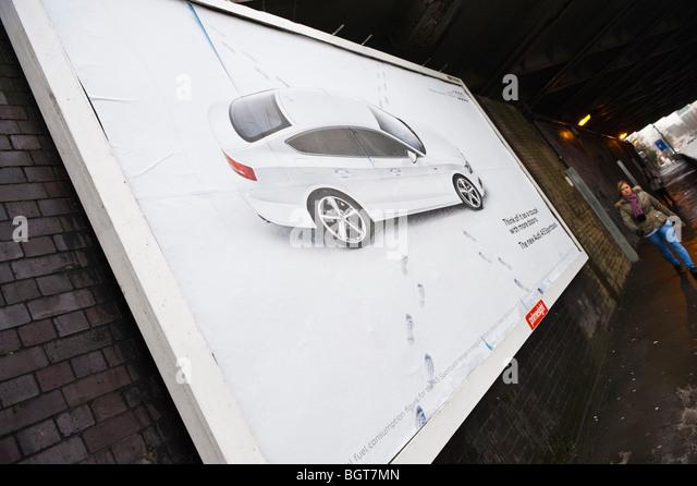 Audi A5 Sportback billboard on primesight site in Newport South Wales UK - Stock Image