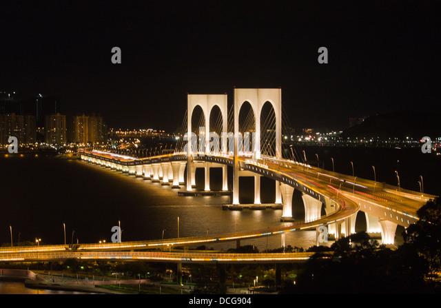 Sai Wan Bridge, Macau, Ponte de Sai Van - Stock Image