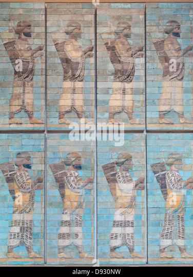 Archers, frieze of archers Achaemenid period, reign of Darius the first 510 before J-C - Stock Image