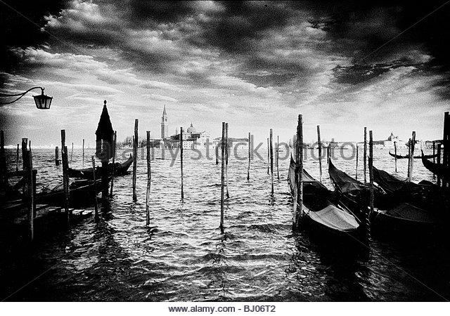 The Church of San Giorgio Maggiore from the Piazzetta San Marco, Venice, Italy - Stock-Bilder