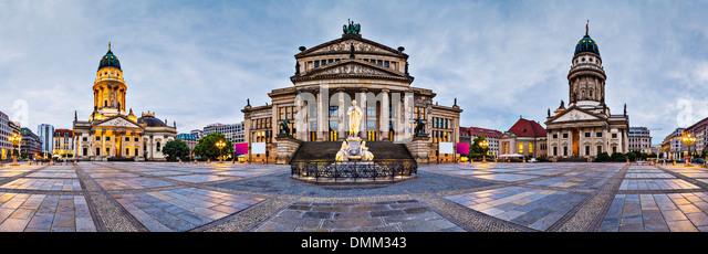 Berlin, Germany at historic Gendarmenmarkt square. - Stock-Bilder