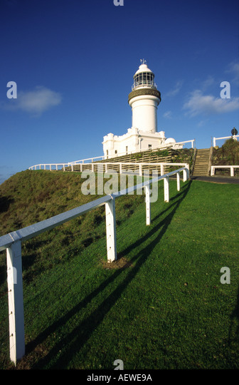 Australia Queensland lighthouse near Byron bay - Stock Image