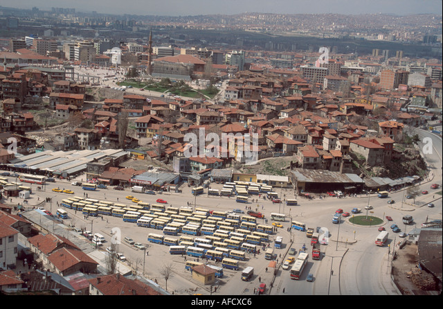 Turkey Cappadocia Ankara housing bus station - Stock Image