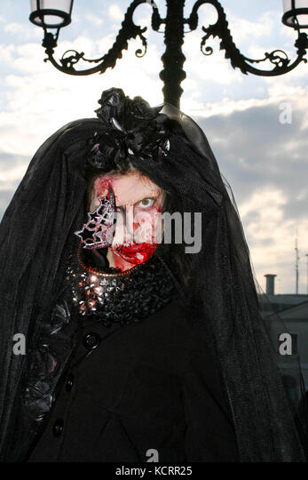 Venice, 21/02/2015. 2nd Zombie Walk in Venice. - Stock Image