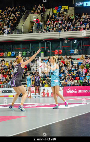 London, UK. 05 March 2016  Netball match between Surrey Storm and Hertfordshire Mavericks. Where the Mavericks defeated - Stock Image