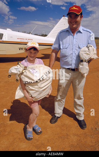 Weekly mail from flying postman, outback Australia - Stock Image