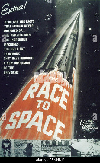 THE RACE TO SPACE, US poster, ca. late 1950s - Stock Image