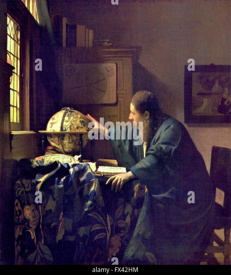 The Astronomer by Vermeer - Stock Image