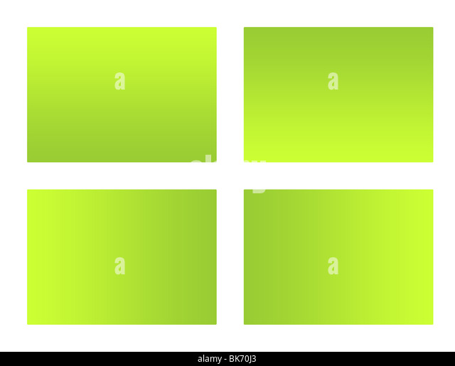 Set of four blank eco labels isolated on white background. - Stock Image