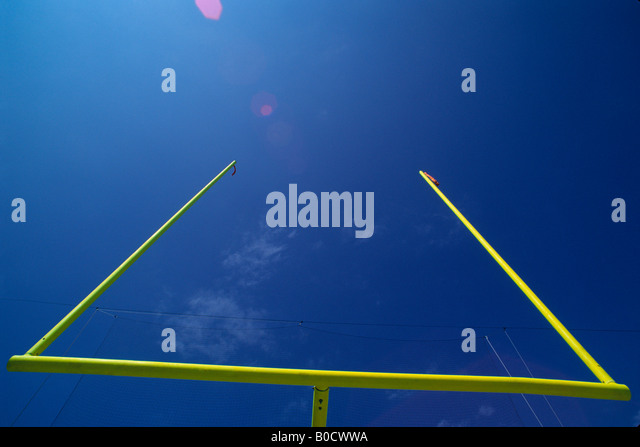 American football goalpost - Stock Image