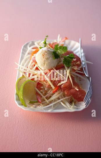 Raw Tuna with Lime Sorbet - Stock Image