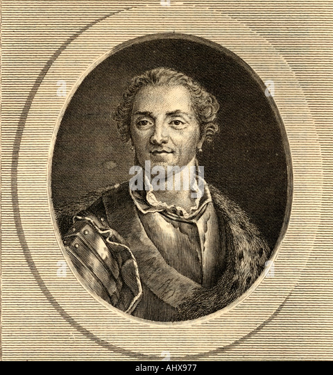 Hermann Maurice Saxe Count of Saxe 1696 1750 Marshall of France - Stock Image