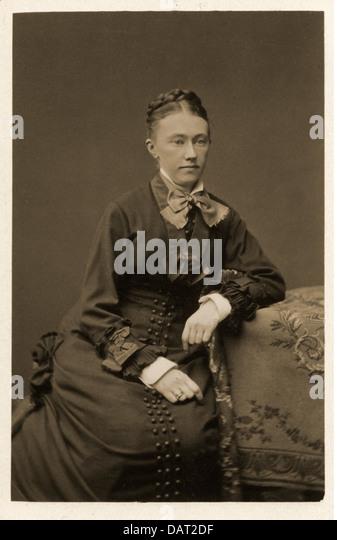 people, women, woman, photograph by Geruzet Freres, Bruxelles, circa 1900, half length, sitting, sit, woman, women, - Stock-Bilder