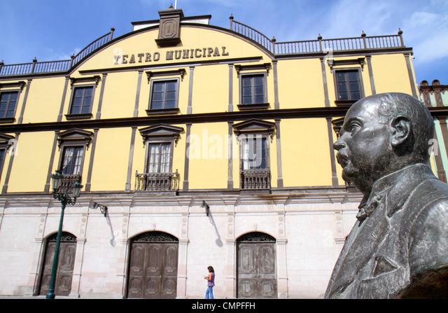 Peru Tacna Avenida 2 de Mayo Teatro Municipal theater city theatre culture art building historic 1870 preservation - Stock Image