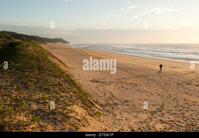 Beach, Ponta Malongane, Mozambique - Stock Image