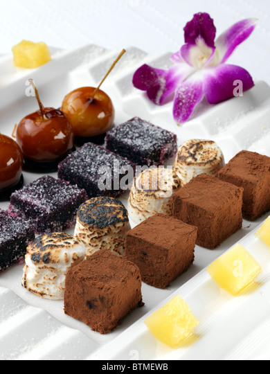 A selection of petits fours - Stock Image