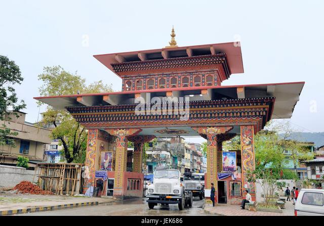 Entrance gate phuentsholing Bhutan, asia - Stock Image