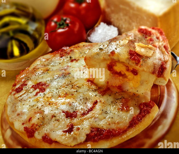 Four cheese pizza - Stock Image