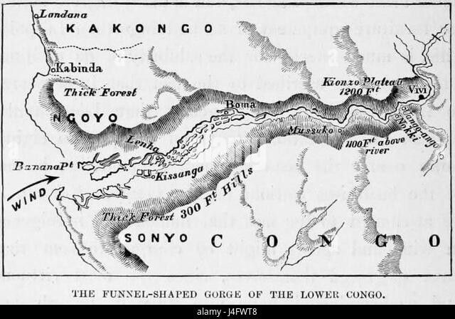 Stanley Founding of Congo Free State 292 The funnel shaped Gorge of the Lower Congo - Stock-Bilder