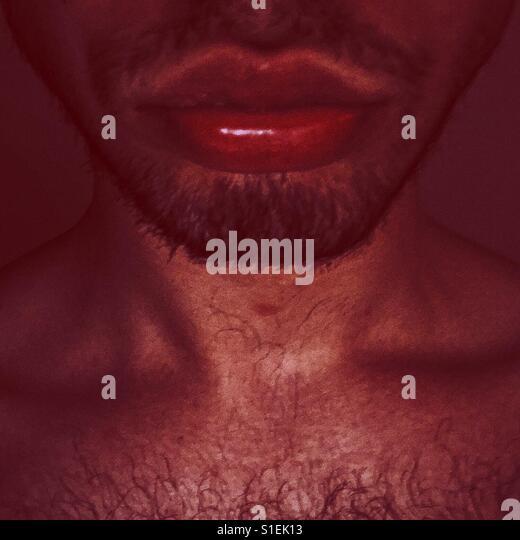 Man big lips - Stock-Bilder
