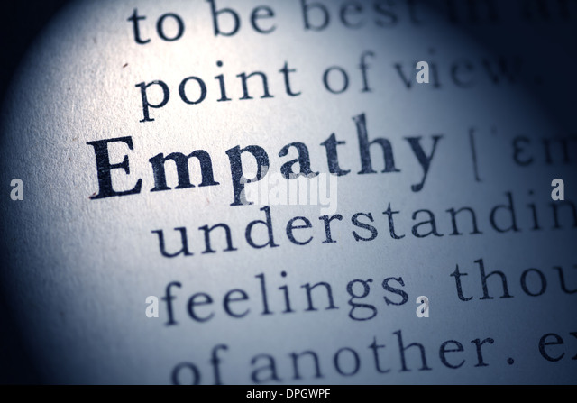 Fake Dictionary, Dictionary definition of empathy. - Stock Image