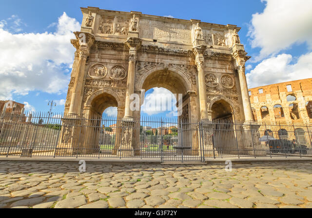 Arch of Constantine - Stock Image