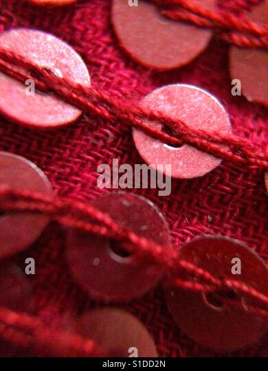 Red sequins - Stock-Bilder
