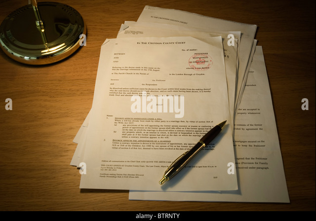 Decree absolute stock photos decree absolute stock for Annulment documents online