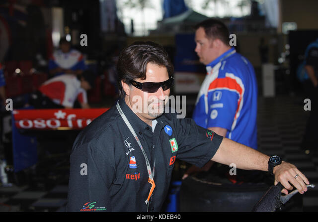 Michael Andretti at the 2009 Honda Grand Prix of St Petersburg, Florida, USA.  It was the first race of the season - Stock Image