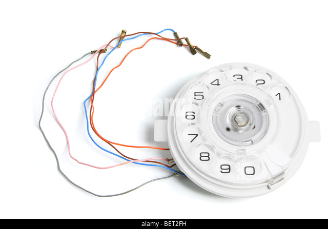 Broken Phone Dial - Stock Image