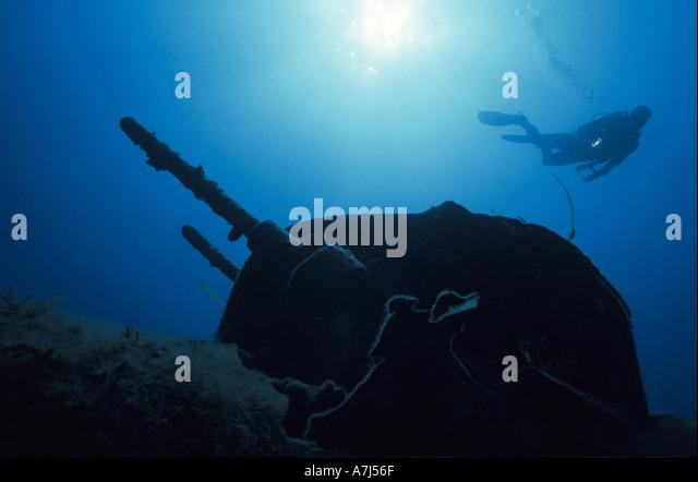 wreck diving corsica - Stock Image