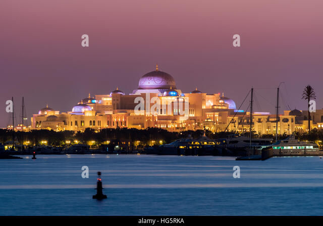 Presidential Palace of the United Arab Emirates, Abu Dhabi, United Arab Emirates - Stock Image
