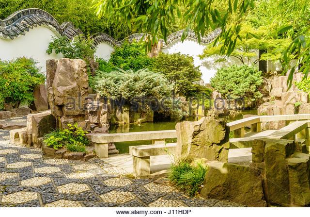 Water garden courtyard stock photos water garden courtyard stock images alamy for New york chinese scholar s garden