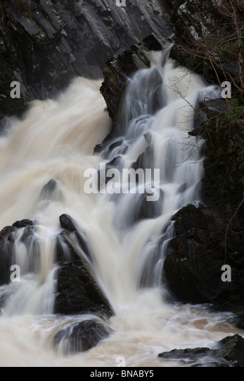 The Conwy Falls in Snowdonia, North Wales. - Stock Image