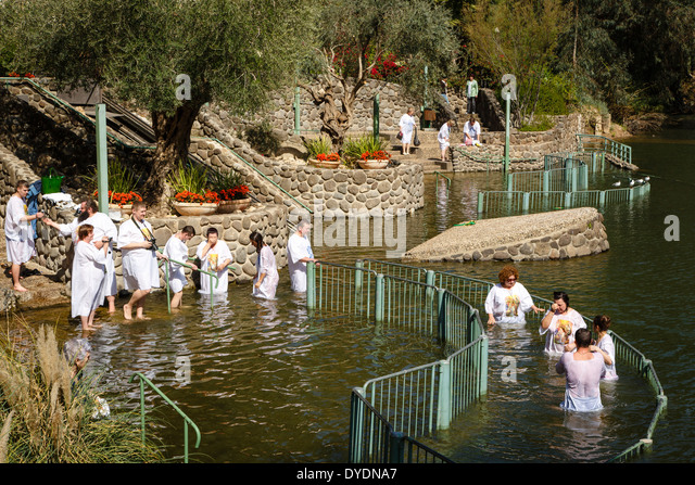 The Yardenit Baptismal Site by the Jordan River Near the Sea of Galilee, Israel. - Stock Image