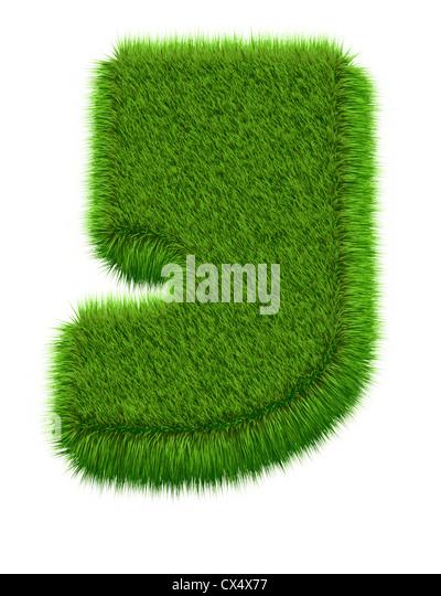 letter sign abc symbol 3d 3d graphics illustration grass cover