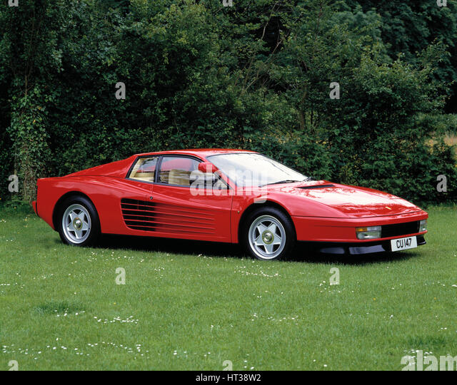 1985 Ferrari Testarossa. Artist: Unknown. - Stock Image