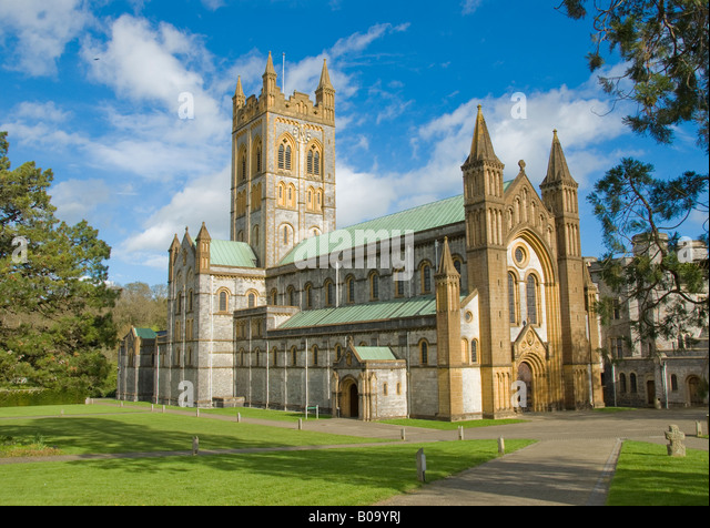 Buckfast Abbey in Buckfast Leigh Devon - Stock Image