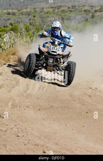 Jun 05, 2010 - Ensenada, Baja Norte, Mexico - ROBERT VILLALOBOS rides to first overall in Class 24 during the 42nd - Stock Image