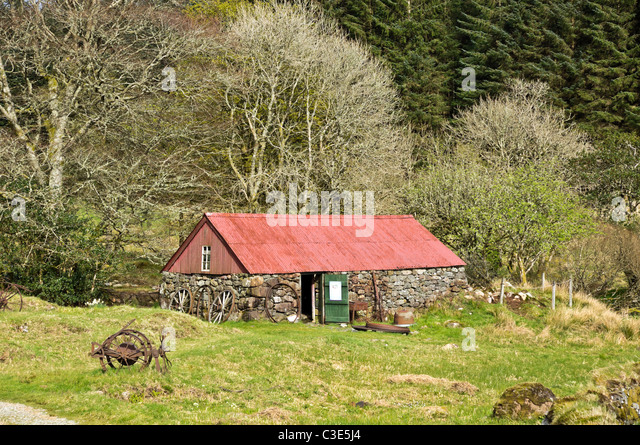 The Bull house at Auchindrain Township Open Air Museum in Argyll Scotland - Stock-Bilder