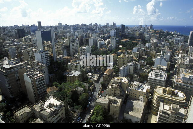 The city centre of Beirut on the coast in lebanon in the middle east. - Stock Image