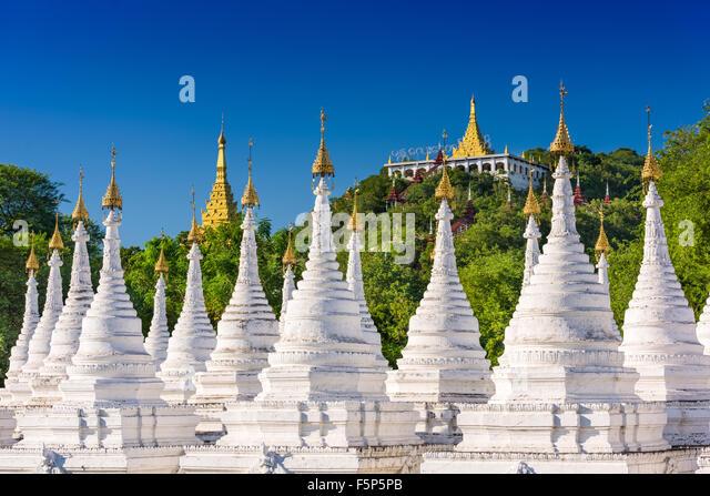 Sandamuni Pagoda Temple stupas in Mandalay, Myanmar. - Stock-Bilder