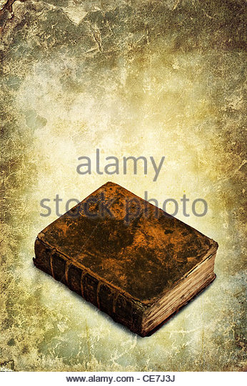 vintage book - Stock Image