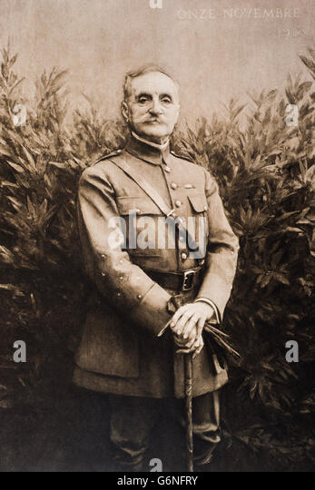 Ferdinand Foch (Tarbes, October 2, 1851 - Paris, 20 March 1929) was a French general. - Stock Image