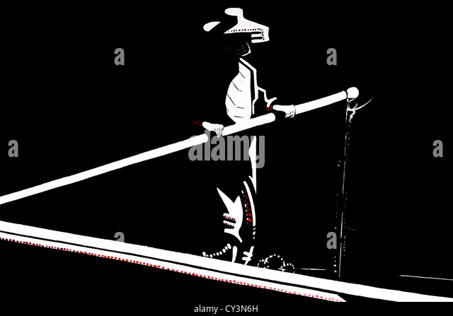 A Thai painting illustrating a man sailing a long boat, Chiang Mai, Thailand - Stock Image