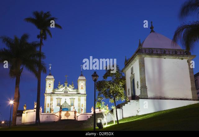 Sanctuary of Bom Jesus de Matosinhos and chapel, UNESCO World Heritage Site, Congonhas, Minas Gerais, Brazil, South - Stock Image