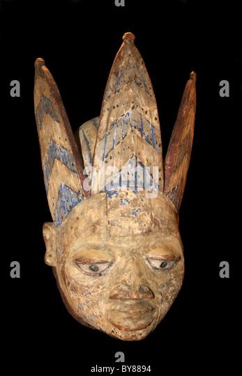 Gelede Mask,Yoruba, Nigeria - Stock Image