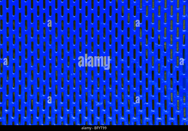 Close up of painted sheet metal and slots as abstract pattern picture - Stock-Bilder