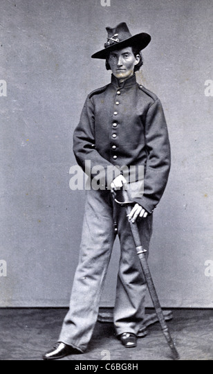 Frances Clalin Clayton, woman who disguised herself as a man, 'Jack Williams,' to fight in the Civil War, - Stock Image